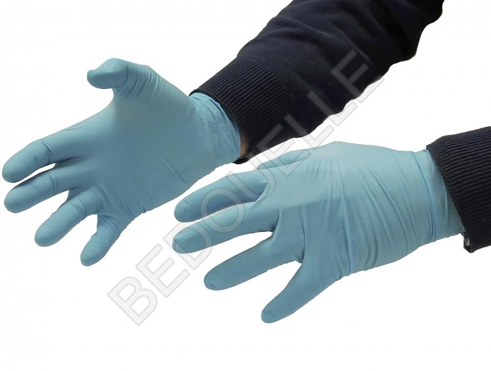 Boite de 100 gants Nitrile jetable (T.9-L)