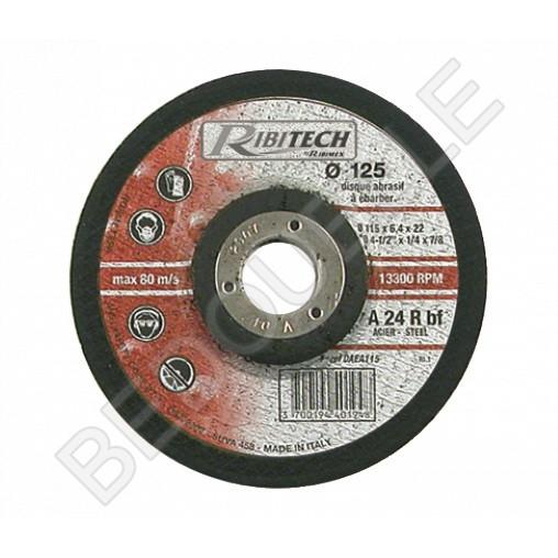 Disque à ébarber l'acier centre déporté Ø115 mm 115x6,4x22,2